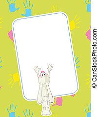 Baby rabbit handprints