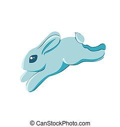 Baby rabbit jumping vector illustration