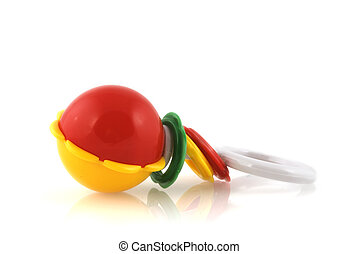 baby-rattle - baby rattle in red and yellow