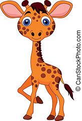 baby, reizend, giraffe, karikatur