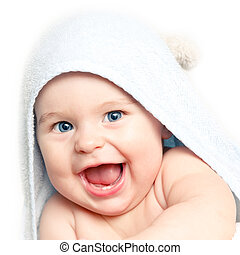 baby, reizend, lächeln