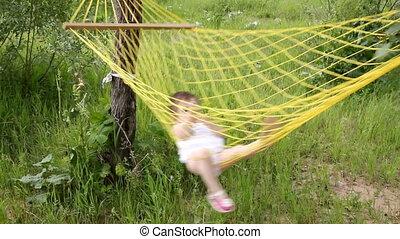 baby relax in hammock