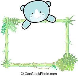 baby rhino bamboo frame