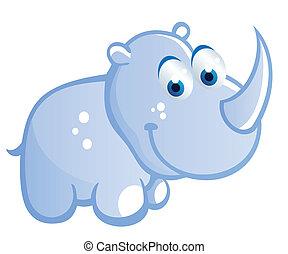 baby rhino cartoon