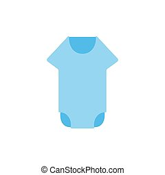 baby romper flat icon vector design illustration.