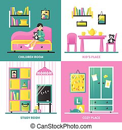 Baby Room Furniture 2x2 Design Concept