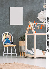 Baby room with house bed