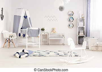 Baby room with seaside atmosphere