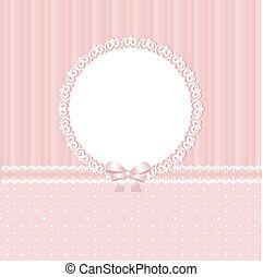baby, rosa bakgrund