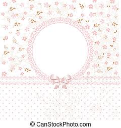 baby, rosafarbene blume, hintergrund