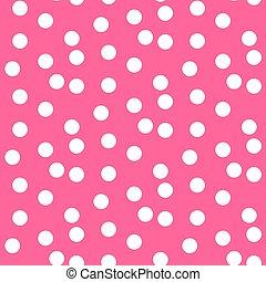baby, rosafarbener hintergrund, zerstreut, punkte, polka, seamless, muster