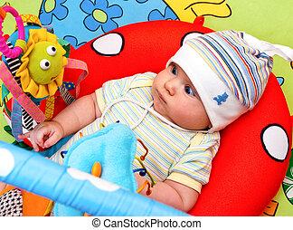 baby, säugling, turnhalle
