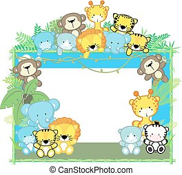 baby safari frame