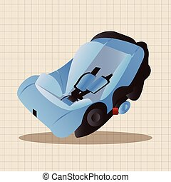 Baby Safety Seat theme elements