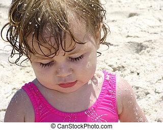 baby, sandstrand