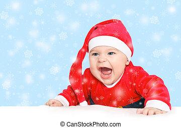 Baby Santa Claus - Baby in Santa Claus costume