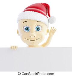 baby santa hat on a white background