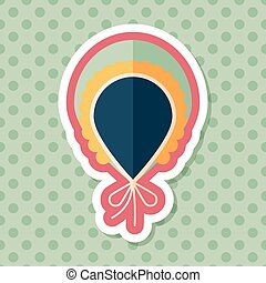 baby scarf flat icon with long shadow,EPS 10