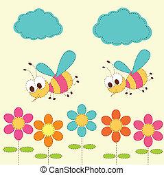 baby, schattig, bijtjes, achtergrond