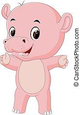 baby, schattig, nijlpaard