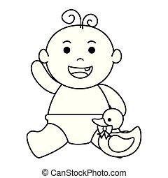 baby, schattig, weinig; niet zo(veel), ducky, jongen