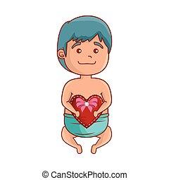 baby, schattig, weinig; niet zo(veel), hart