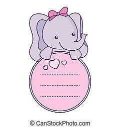 baby, schattig, weinig; niet zo(veel), kaart, elefant