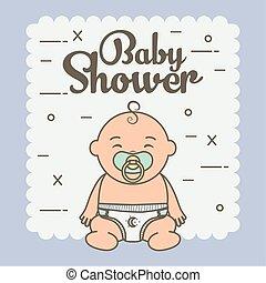 baby, schattig, weinig; niet zo(veel), pacifier, jongen