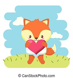 baby, schattig, weinig; niet zo(veel), vos, hart