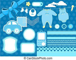 baby scrapbook elements - design elements for baby...