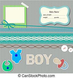 Baby scrapbook elements