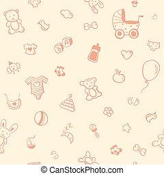 Baby seamless pattern