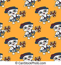 baby seamless pattern with a duckling for your design
