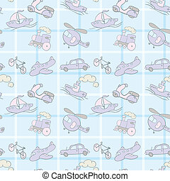 Baby Seamless Wallpaper Transportation - Baby Seamless...