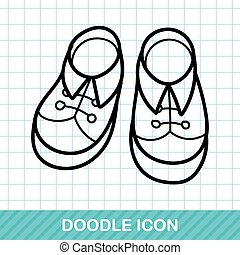 baby shoes doodle