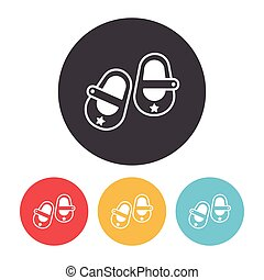 baby shoes icon