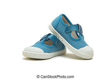 Baby shoes isolated on the white background