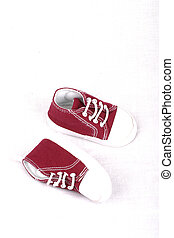Baby shoes maroon