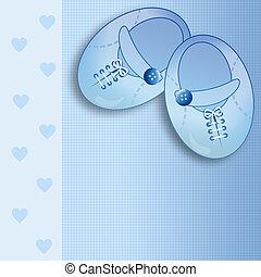 Baby shoes - Newborn postcard