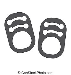 Baby shoes solid icon, footwear and fashion