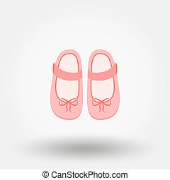Baby shoes vector illustration.
