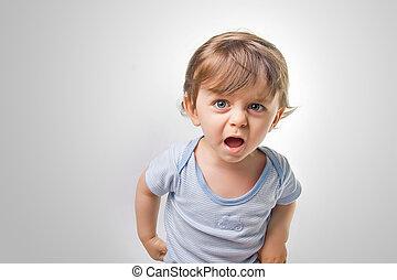 Baby shouting at the camera