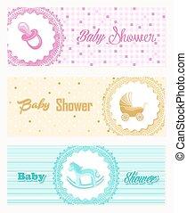 Baby shower banner set design