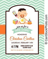 Baby Shower Boy Invitation