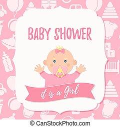 Baby Shower Celebration Invitation Card Happy Birthday