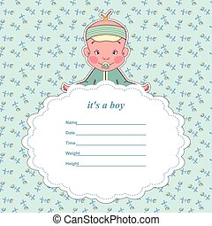 Baby shower card for a newborn.