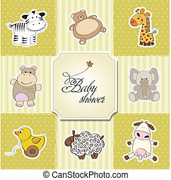 baby shower card template.