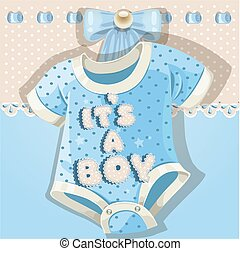 Baby shower card with baby shoes - Baby shower blue card...