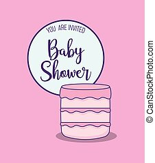 baby shower card with cake