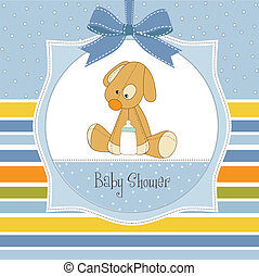 baby shower card with puppy